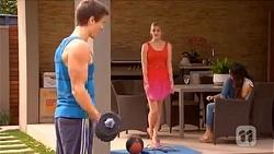 Josh Willis, Amber Turner, Imogen Willis in Neighbours Episode 6653