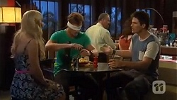 Georgia Brooks, Kyle Canning, Chris Pappas in Neighbours Episode 6653
