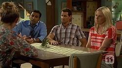 Sonya Rebecchi, Ajay Kapoor, Matt Turner, Lauren Turner in Neighbours Episode 6655