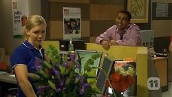 Georgia Brooks, Ajay Kapoor in Neighbours Episode 6675