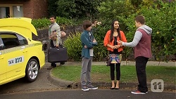 Ajay Kapoor, Bailey Turner, Rani Kapoor, Callum Jones in Neighbours Episode 6685