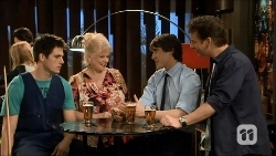 Chris Pappas, Sheila Canning, Mason Turner, Lucas Fitzgerald in Neighbours Episode 6691