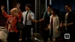 Sheila Canning, Mason Turner, Chris Pappas, Vanessa Villante, Lucas Fitzgerald in Neighbours Episode 6691