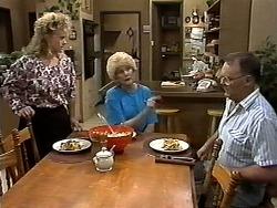 Sharon Davies, Madge Bishop, Harold Bishop in Neighbours Episode 1191