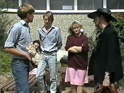 Ryan McLachlan, Rick Masters, Sharon Davies, Dorothy Burke in Neighbours Episode 1191
