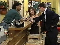 Eddie Buckingham, Christina Alessi, Paul Robinson in Neighbours Episode 1193