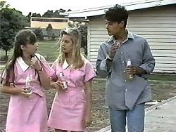 Cody Willis, Melissa Jarrett, Josh Anderson in Neighbours Episode 1193