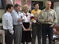 Paul Robinson, Harold Bishop, Madge Bishop, Joe Mangel, Jim Robinson in Neighbours Episode 1194