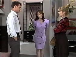 Paul Robinson, Caroline Alessi, Melanie Pearson in Neighbours Episode 1195