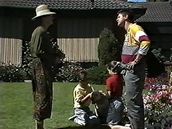Dorothy Burke, Toby Mangel, Bouncer, Lochy McLachlan, Joe Mangel in Neighbours Episode 1195