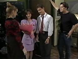 Melanie Pearson, Caroline Alessi, Paul Robinson, Matt Robinson in Neighbours Episode 1195