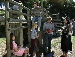 Cody Willis, Melissa Jarrett, Josh Anderson, Ryan McLachlan, Dorothy Burke in Neighbours Episode 1196