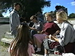 Josh Anderson, Cody Willis, Ryan McLachlan, Sharon Davies, Melissa Jarrett in Neighbours Episode 1196