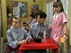 Melissa Jarrett, Josh Anderson, Cody Willis in Neighbours Episode 1196
