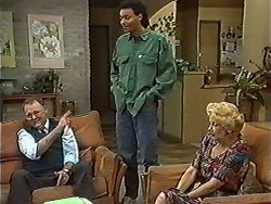 Harold Bishop, Eddie Buckingham, Madge Bishop in Neighbours Episode 1198
