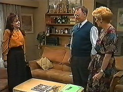 Rhoda Goldman, Harold Bishop, Madge Bishop in Neighbours Episode 1198