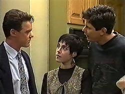 Paul Robinson, Kerry Bishop, Joe Mangel in Neighbours Episode 1199