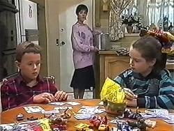 Toby Mangel, Kerry Bishop, Lochy McLachlan in Neighbours Episode 1200