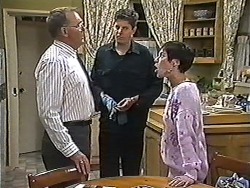 Harold Bishop, Joe Mangel, Kerry Bishop in Neighbours Episode 1200