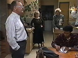 Harold Bishop, Sharon Davies, Madge Bishop, Eddie Buckingham in Neighbours Episode 1200