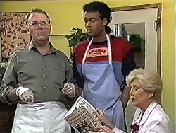 Harold Bishop, Eddie Buckingham, Madge Bishop in Neighbours Episode 1201