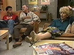 Eddie Buckingham, Harold Bishop, Madge Bishop in Neighbours Episode 1201