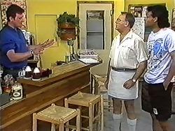 Des Clarke, Harold Bishop, Eddie Buckingham in Neighbours Episode 1202