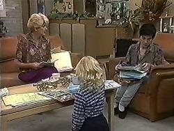 Madge Bishop, Sky Mangel, Kerry Bishop in Neighbours Episode 1202