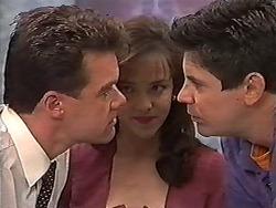 Paul Robinson, Caroline Alessi, Joe Mangel in Neighbours Episode 1202