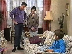 Joe Mangel, Kerry Bishop, Toby Mangel in Neighbours Episode 1202