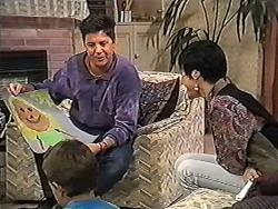Joe Mangel, Toby Mangel, Kerry Bishop in Neighbours Episode 1202
