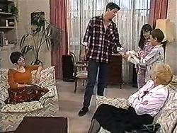 Kerry Bishop, Joe Mangel, Natasha Kovac, Toby Mangel, Madge Bishop in Neighbours Episode 1203