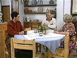 Dorothy Burke, Jim Robinson, Helen Daniels in Neighbours Episode 1204