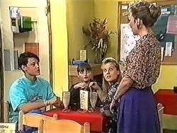 Josh Anderson, Cody Willis, Melissa Jarrett, Beverly Marshall in Neighbours Episode 1205