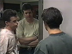 Paul Robinson, Des Clarke, Matt Robinson in Neighbours Episode 1205