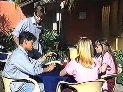 Josh Anderson, Todd Landers, Melissa Jarrett, Cody Willis in Neighbours Episode 1205