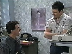 Paul Robinson, Des Clarke in Neighbours Episode 1207