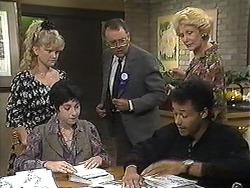 Sharon Davies, Kerry Bishop, Harold Bishop, Eddie Buckingham, Madge Bishop in Neighbours Episode 1208