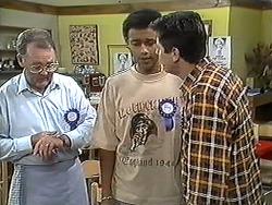 Harold Bishop, Eddie Buckingham, Joe Mangel in Neighbours Episode 1208