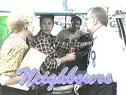 Madge Bishop, Joe Mangel, Eddie Buckingham, Harold Bishop in Neighbours Episode 1208
