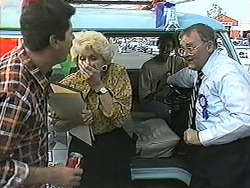 Joe Mangel, Madge Bishop, Eddie Buckingham, Harold Bishop in Neighbours Episode 1209