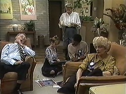 Harold Bishop, Melanie Pearson, Helen Daniels, Eddie Buckingham, Madge Bishop in Neighbours Episode 1209