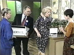 Helen Daniels, Harold Bishop, Madge Bishop, Kerry Bishop in Neighbours Episode 1209