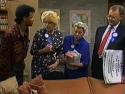 Eddie Buckingham, Madge Bishop, Helen Daniels, Harold Bishop in Neighbours Episode 1209