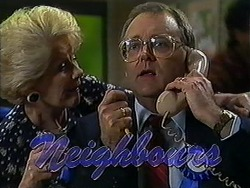 Madge Bishop, Harold Bishop in Neighbours Episode 1209