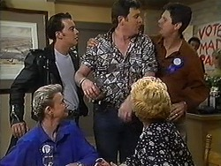 Helen Daniels, Matt Robinson, Des Clarke, Madge Bishop, Joe Mangel in Neighbours Episode 1210