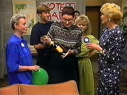 Helen Daniels, Ryan McLachlan, Dorothy Burke, Sharon Davies, Madge Bishop in Neighbours Episode 1210