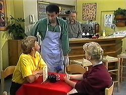 Ryan McLachlan, Eddie Buckingham, Harold Bishop, Sharon Davies in Neighbours Episode 1210