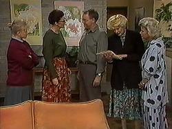 Sharon Davies, Dorothy Burke, Harold Bishop, Madge Bishop, Helen Daniels in Neighbours Episode 1211