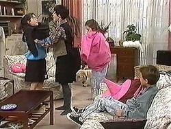 Natasha Kovac, Kerry Bishop, Bouncer, Lochy McLachlan, Toby Mangel in Neighbours Episode 1212